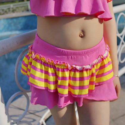 Ready Stock 2pcs Sets Kids Swimsuit Children's Swimwear Girls Bikini Beachwear 420384