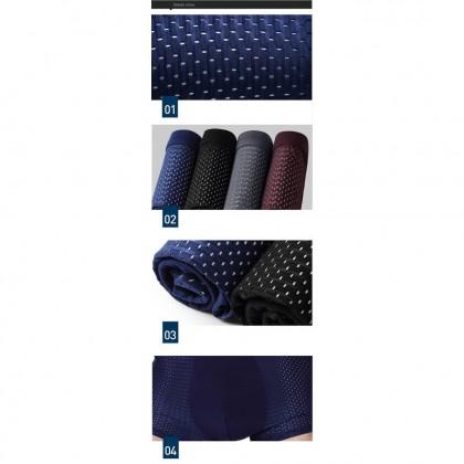 【4pcs Perpack】Ready Stock Men Man Breathable Bamboo Fiber Cotton Underwear Boxer Brief Seluar Dalam Lelaki 161140