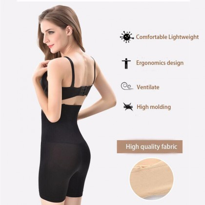 READY STOCK Plus Size Women's High Waist Slimming Girdle Pants Shapewear Corset Tummy Control Girdle Safety Pants 221106