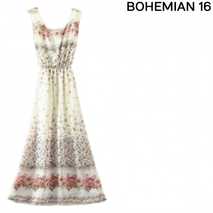 M'SIA Ready Stock KoreanFashion Bohemian Chiffon Long Dress 329988