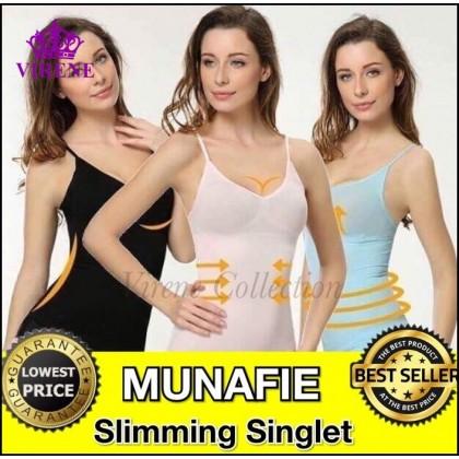 M'SIA BORONG READY STOCK 100% ORI MUNAFIE Fat Burning Shapewear Slimming Singlet Tummy Control Girdle Inner 111408