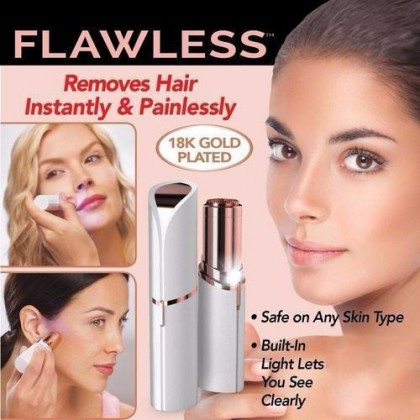READY STOCK FLAWLESS Women Painless  Hair Remover - FREE Brush 321046