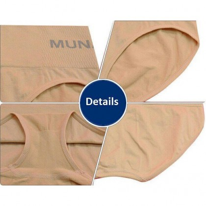 Ready Stock Japan MUNAFIE 5 Colors Women Medium Waist Panties Underwear 101160