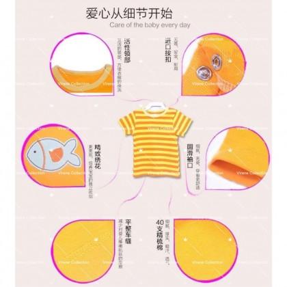Carter's BORONG 5pcs Ready Stock Baby Boys Girls Short Sleeve T- Shirt 541024