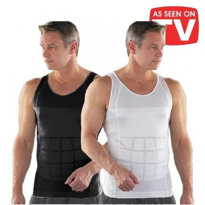 Ready Stock Original Slim N Lift SUPER SLIM Body Shaper Men Slimming Vest Singlet 219186