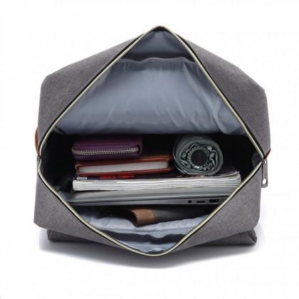 READY STOCK Korean Fashion Unisex Canvas Travel Bag Laptop Backpack - 751160
