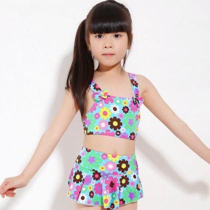 Ready Stock 2pcs Sets Kids Swimsuit Children's Swimwear Girls Bikini 420584