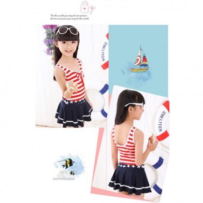 Ready Stock1 Piece Kids Swimsuit Girls Bikini Swimwear Beachwear 321206
