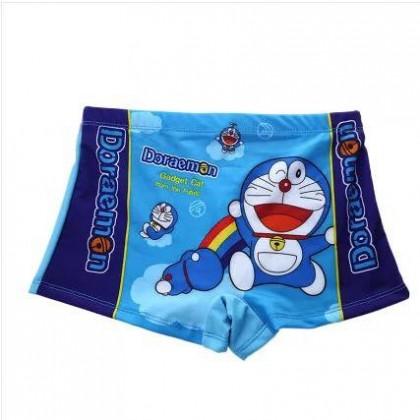 READY STOCK  Kids Swimming Pants Boy's Swim Trunk Doraemon Design 100188