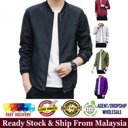 Ready Stock Korean Style Casual Men Slim Fit Bomber Jacket Sportswear 531180