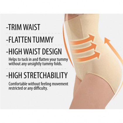 M'SIA Borong READY STOCK 120gm MUNAFIE High Waist Tummy Control Panty 211130