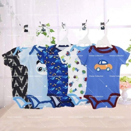 Carter's 5 Of Set 100%Cotton Ready Stock Baby Boys/Girls Romper 431166