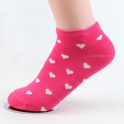 Women Ankle Socks 5 Pairs Perpack Super Soft Cotton Socks Love Design Women Kids Random Colour Ready Stock 011153