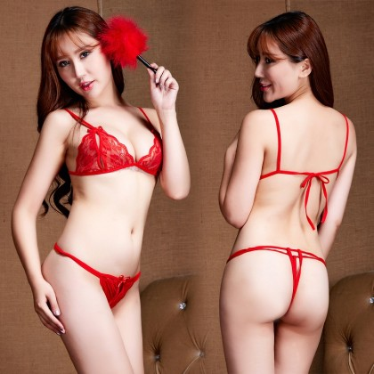 NEW【Ready Stock】Sexy Bikini Set Lingerie Sleepwear Nightwear 101140
