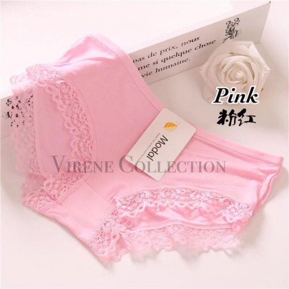 READY STOCK BORONG 100%Modal Cotton Stretchable Comfortable Panties 021164CPC