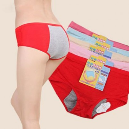 VIRENE Women Panties Breathable Seamless Leakproof Physiological Panties Candy Color Ladies Inner Wear Pants (Free Size) Ready Stock 641100