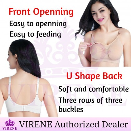 VIRENE SUPER SOFT Front Open Type Maternity Breastfeeding Bra Ready Stock 311180