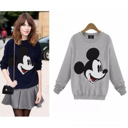 READY STOCK Korean Fashion Mickey Mouse Long Sleeve Blouse / Sweater - 311780