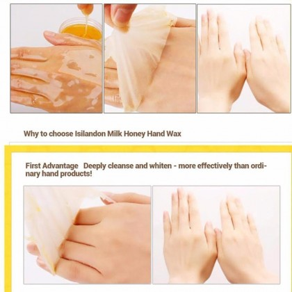 BIOAQUA 【100% Original】Honey Hand Wax Moisturizing Mask 牛奶蜂蜜滋润手蜡 2751BA