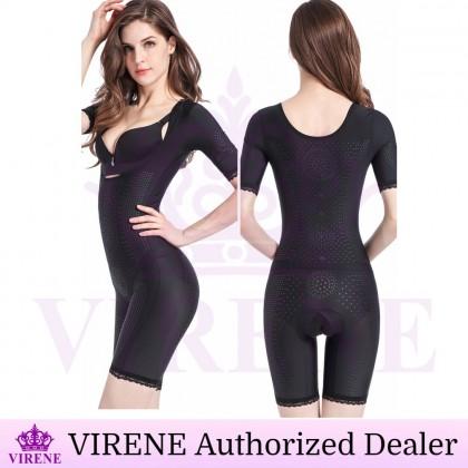 VIRENE Corset Bodysuit Full Body Infrared Corset Negative Ion Body Sculpted Shapewear Flatten Abdomen Belly Bodysuit Seamless Postpartum Corset Shapewear Ready Stock 571125