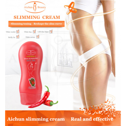 Slimming Cream Ginger & Chilli 3 Day AICHUN BEAUTY【100% ORIGINAL】(250ml) Body Massage Weight Loss Cream Burn Fat  Auxiliary Ready Stock 118828ACB