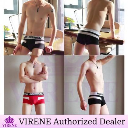 VIRENE Men Underwear 【3pcs Perpack】Men Brief Man Boxer Male Breathable Underwear Seluar Dalam Lelaki (Size M - 3XL) Ready Stock 432633