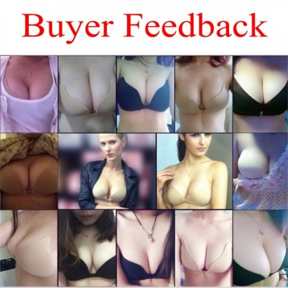 Nu Bra Seamless Adhesive V BRA Vest Nubra / Wedding / Formal Dress Push Up Nu Bra Ready Stock Premium Quality 111118