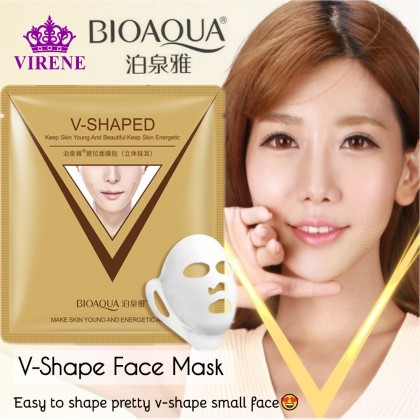 BIOAQUA Mascarilla V-Shaped Sheet Mask 【100% Original】Peel Off Estiramiento Facial Mask Lifting Moisturizing Nourishing V-Shape Face Mask Ready Stock 2447BA
