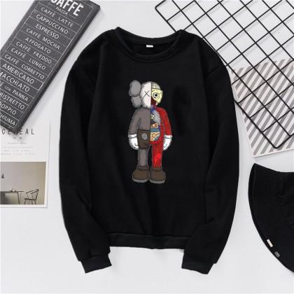 VIRENE KAWS Sweater Hoodies Shirt KAWS Cartoon Men Women Long Sleeve Sweater Hoodies Top【S - 3XL】7 Colors Ready Stock 322271