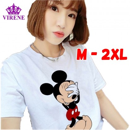 Virene Mickey T-Shirt Women Plus Size Blouse Baju Mickey Wanita READY STOCK 211320