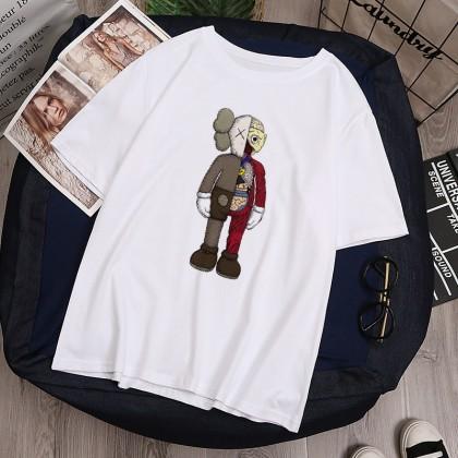 VIRENE KAWS T-Shirt Women Men Shirt Sesame Street Short Sleeve Clothes Unisex Fashion Man Women T-Shirt 【M - 2XL】Ready Stock 112216