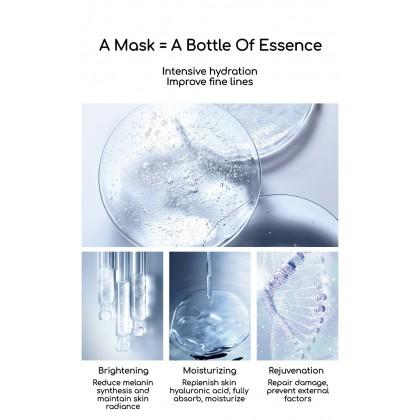 VENZEN梵贞 100%Original Moisturizing Soothing Brightening Mask Improve Dry Dull Rough Acne Skin Arbutin Hydrate Mask 小灯泡面膜 Ready Stock 29664