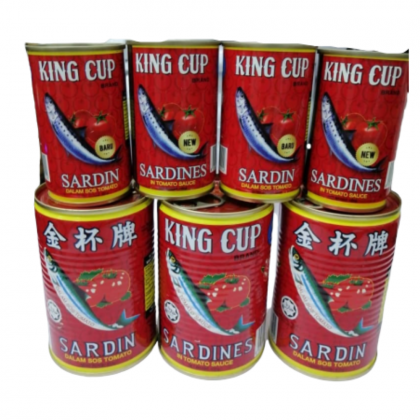 King Cup Sardines In Tomato Sauce 425g Ready Stock 9556198199145