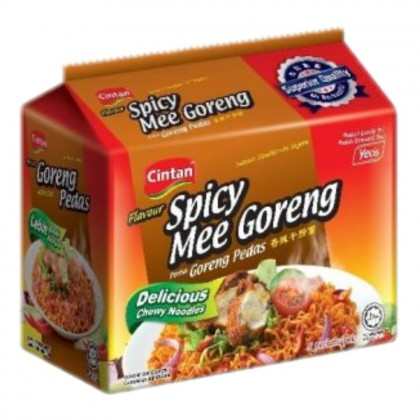 Cintan Mee Goreng Pedas Instant Dry & Spicy Noodles HALAL 香辣干捞面 Ready Stock 9556156001695