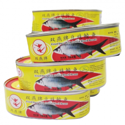Double Swallow Fried Dace With Salted Black Beans 184G 双燕牌豆豉鱼鲮鱼 Ready Stock 9556663183006