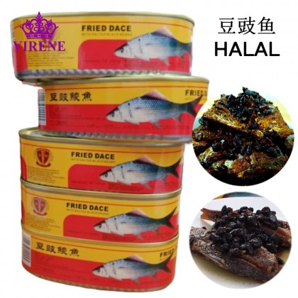GUJIAN Fried Dace With Salted Black Beans 184G HALAL 古剑牌豆豉鱼鲮鱼 Ready Stock 6924762200048