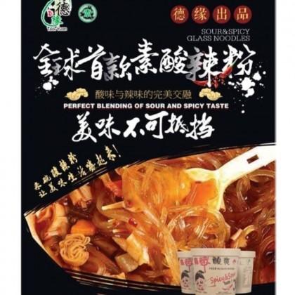 素酸辣粉 正宗即食酸辣粉丝冬粉 - 6杯 1箱 Vegetarian Spicy & Sour Vermicelli Instant Vermicelli - 6 Bowl 1 Carton Ready Stock 9555849000519