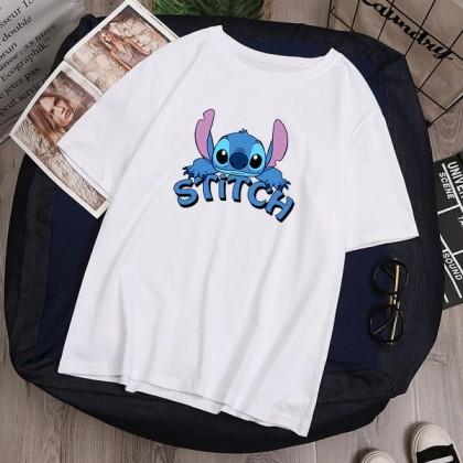 Lilo Stitch Women Men T-Shirt Casual Short Sleeve Blouse Lovely Cute Top M - 2XL Ready Stock 116616