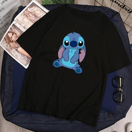 Lilo Stitch Women Men T-Shirt Casual Short Sleeve Blouse Lovely Cute Top M - 2XL Ready Stock 117716
