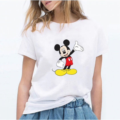 Mickey Mouse Women Men T-Shirt Casual Short Sleeve Blouse Lovely Cute Mickey Top M - 2XL Ready Stock 118816