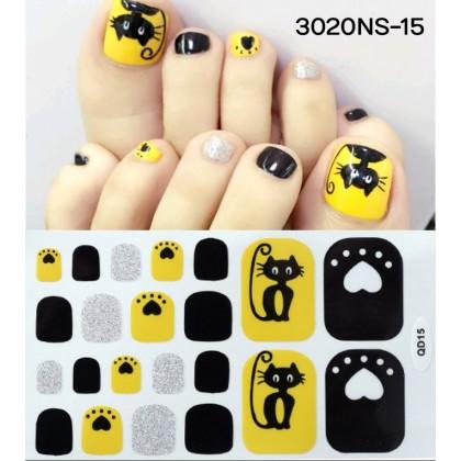 DIY Nail Sticker Fashion Toenails Art Sticker Latest Exquisite Feet Nail Stickers Waterproof Manicure Sticker Ready Stock 3020NS