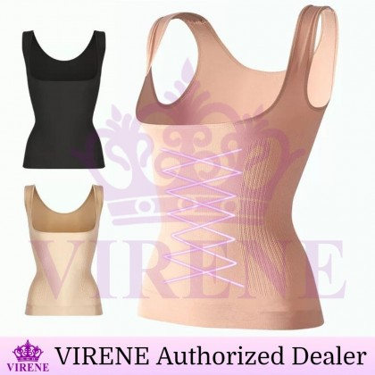VIRENE Seamless Camisole Slimming Corset Top Body Shaper Singlet Waist Trainer Vest Ready Stock 218820