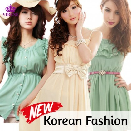 Korean Fashion Women Shirt Top Pants Dress Skirt Sleeveless Random Design Try Your Luck Korean Clothes Ready Stock
