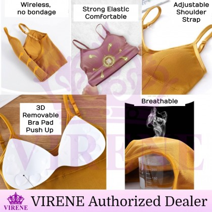 VIRENE Women Sexy Tube Bra Big U-shaped Back Camisole Push Up Outfit Bra Sport Bra Tube Top (40-66kg) Ready Stock 100095
