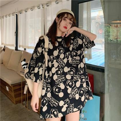 Mickey T-Shirt Korean Fashion Women Blouse Mickey Shirt Loose Basic Tee Lovely Cute Top Ready Stock 120040