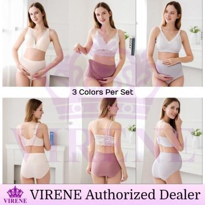 VIRENE Maternity Panties 3 Pcs Perpack Women High Waist Pregnant Panties Cotton Adjustable Mummy Underwear Ready Stock 329936
