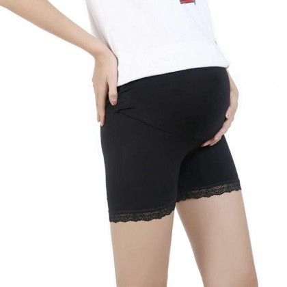 Pregnant Safety Pants Maternity Adjustable Safety Shorts Stomach Support Pants Nursing Shorts (Lace) Ready Stock 321120
