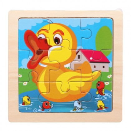 Kids Wooden Jigsaw Puzzle Early Education Toys Baby Learning Puzzle Child Toys 儿童拼图 (11cm x 11cm) Ready Stock 218824