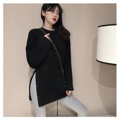 Korean Fashion Women Blouse Viral Shirt Casual Long Sleeve Top Plain Summer T-Shirt Baju Murah Wanita Ready Stock 218888