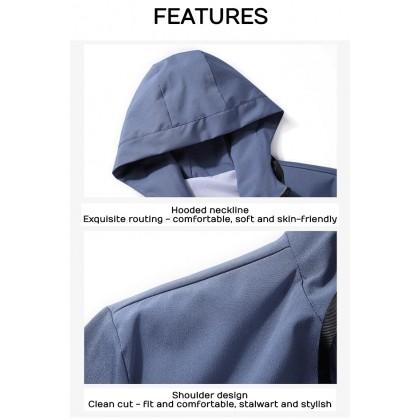 Korean Fashion Men Bomber Jacket Premium Quality Hoodies Jacket Man Outwear Coat Casual Jaket Outfit Ready Stock 531166